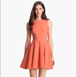 Diane von Furstenberg Jeanne Peach Skater Dress